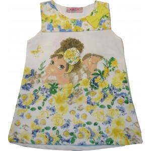 Φόρεμα Παιδικό Αμάνικο Κίτρινο 291.87.597
