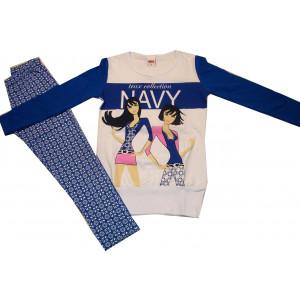 Μπλουζοφόρεμα & Κολάν Μακώ Μπλε Ρουά Trax 29103
