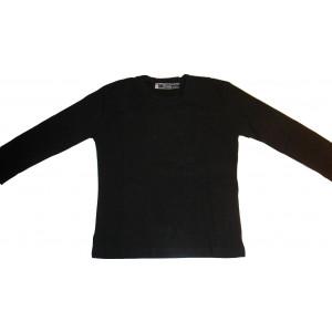 Μπλούζα Μονόχρωμη Φούτερ Λύκρα (Μαύρο) (Κωδ.583.532.002) (Για Παραγγελία Άνω των 10 τεμ η τιμή είναι 6€)