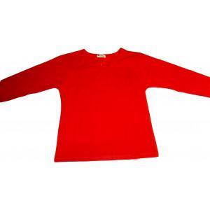 Μπλούζα Μονόχρωμη Βαμβακολύκρα (Κόκκινο) (Κωδ.583.532.001)