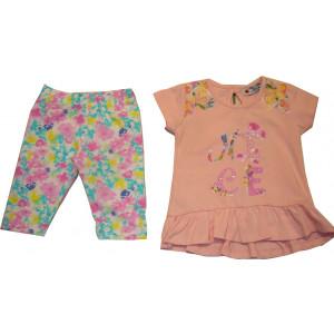 Μπλουζοφόρεμα & Κολάν (Ροζ) (Κωδ.291.130.215)