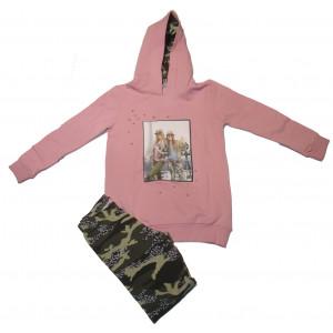 Μπλουζοφόρεμα & Κολάν Παραλλαγής (Ροζ) (Κωδ.291.086.010+3)