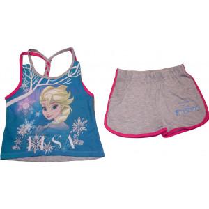 Μπλούζα & Σόρτσ (Μακώ) Frozen Disney (Γκρι Ανοιχτό) (Κωδ.200.60.001)