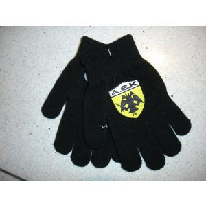Γάντια Πλεκτά ΑΕΚ (Μαύρο) (Κωδ.214.90.054)