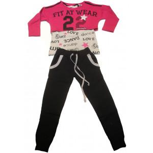 Φόρμα με 2 Μπλούζες Παιδική (Φουξ) (Κωδ.291.039.007+18)