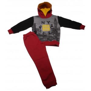 Φόρμα Φούτερ με κουκούλα Παιδική (Μπορντώ) (Κωδ.118.040.003+20)