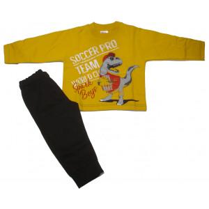Φόρμα Φούτερ Μπεμπέ (Κίτρινο) (Κωδ.118.040.012+5)