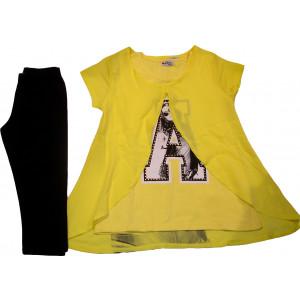 Μπλουζοφόρεμα & Κολάν (Κίτρινο) (Κωδ.291.87.308)