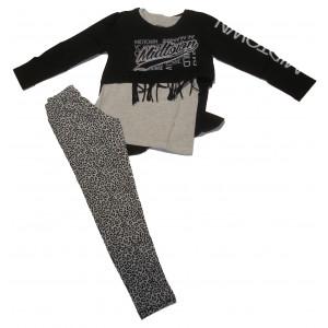 Σετ 2 Μπλούζες & Κολάν Παιδικό Μαύρο  Κωδ.291.086.032+13