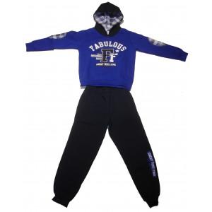 Φόρμα Φούτερ με κουκούλα παιδική (Ρουα Μπλε) (Κωδ.077.040.026+25)