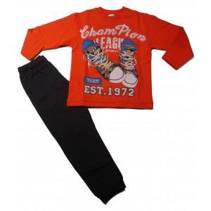 Φόρμα Φούτερ Παιδική (Πορτοκαλί) (#118.040.005+9#)