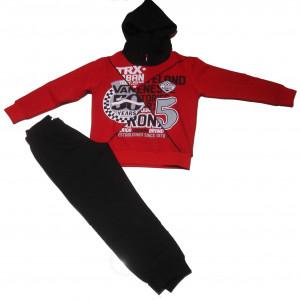 Φόρμα κουκούλα παιδικό (Κόκκινο) (#077.040.022+10#)