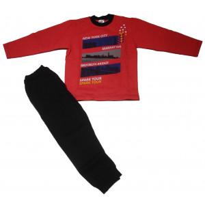 Φόρμα Φούτερ Παιδική (Κόκκινο) (#118.040.000+10#)