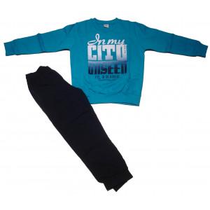 Φόρμα Φούτερ Παιδική (Τυρκουάζ) (#077.040.020+50#)