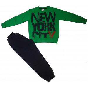 Φόρμα Φούτερ Παιδική (Πράσινο) (#077.040.023+8#)