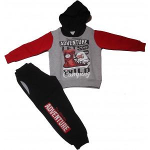 Φόρμα κουκούλα παιδική (Κόκκινο) (#077.040.021+10#)