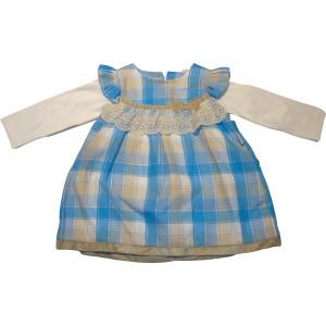 Φόρεμα Μ/M Καρώ (Σιελ) (Κωδ.291.130.257)