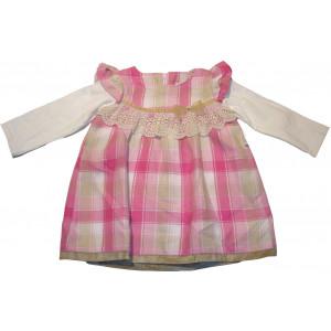 Φόρεμα Μ/M Καρώ (Ροζ) (Κωδ.291.130.257)
