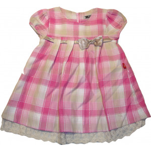 Φόρεμα Κ/M Καρώ (Ροζ) (Κωδ.291.86.404)