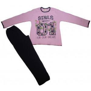 Πυζάμα Girls Παιδική (Ροζ) (#489.095.000+3#)