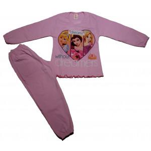 Πυζάμα Princess Παιδική (Ροζ) (#489.095.002+3#)