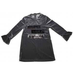 Φόρεμα Βελουτέ Παιδικό (Σκούρο Γκρι) (#291.086.065+19#)