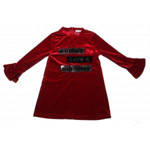 Φόρεμα Βελουτέ Παιδικό (Κόκκινο) (#291.086.065+10#)