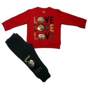Φόρμα Φούτερ Μπεμπέ (Κόκκινο) (#077.039.003+10#)