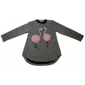 Μπλούζα Flamingo Παιδικό (Γκρι Ανοιχτό) (#291.018.004+15#)