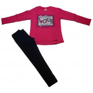 Σετ Μπλουζοφόρεμα & Κολάν Παιδικό (Ροζ) (#077.086.000+3#)