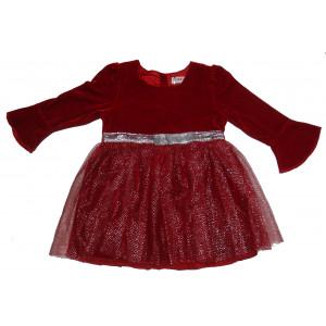 Φόρεμα Βελουτέ Μπεμπέ Μπορντώ Εβίτα 291.086.057