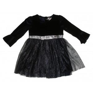 Φόρεμα Βελουτέ Μπεμπέ Μπλε Εβίτα 291.086.057