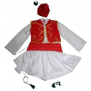 Παιδική Στολή Παραδοσιακή Τσολιάς Κόκκινος 583.305.000