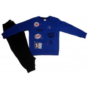 Φόρμα Φούτερ Παιδική (Ρουα Μπλε) (Κωδ.077.040.030+25)