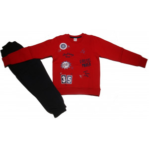 Φόρμα Φούτερ Παιδική (Κόκκινο) (Κωδ.077.040.030+10)