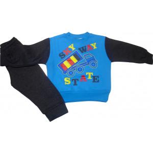 Σετ Φόρμα Φούτερ Παιδική Μπλε Ρουά 118.40.169