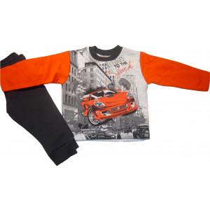 Σετ Φόρμα Φούτερ Παιδική Πορτοκαλί 118.40.172