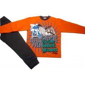 Σετ Φόρμα Φούτερ Παιδική Πορτοκαλί 118.40.242