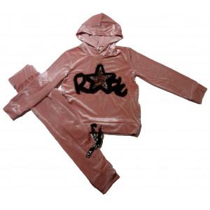 Φόρμα Βελουτέ Παιδική (Ροζ) (#291.039.017+3#)