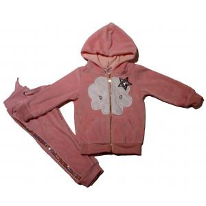 Φόρμα Βελουτέ Μπεμπέ (Ροζ) (#291.039.018+3#)