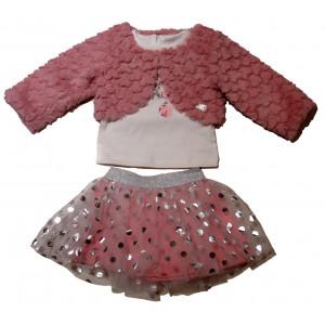 Μπολερό - Φούστα - Μπλούζα (Ροζ) (#291.330.023+3#)