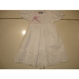 Φόρεμα Βρεφικό Κοντό Μανίκι Άσπρο 291.130.042