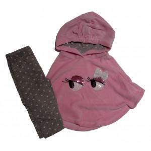 Σετ Πόντσο - Μπλούζα - Κολάν (Ροζ) (#291.330.014+3#)
