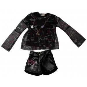 Σετ Μπλούζα & Σορτς Παιδικό (Μαύρο) (#291.033.006+13#)