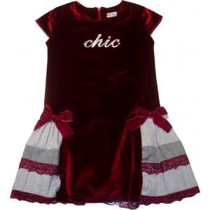 Φόρεμα Κ/M Βελουτέ (Μπορντώ) (Κωδ.291.86.437)