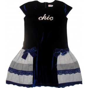 Φόρεμα Κ/M Βελουτέ (Μπλε) (Κωδ.291.86.443)