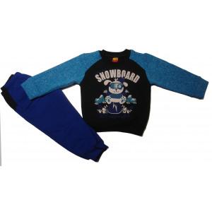 Φόρμα Φούτερ Μπεμπέ (Μπλε) (077.040.001)
