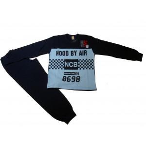 Πυζάμα Hood by Air Παιδική (Σιελ) (#489.068.001+2#)