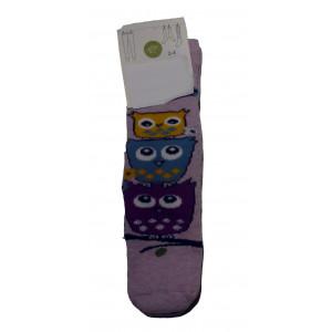 Αντιολισθητικές Κάλτσες Κουκουβάγια (Ροζ) (#304.064.004+3#)