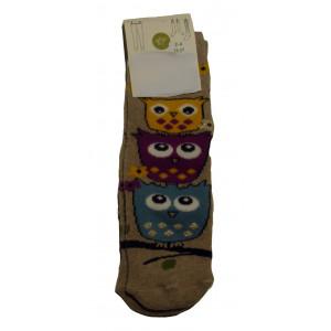 Αντιολισθητικές Κάλτσες Κουκουβάγια (Γκρι Ανοιχτό) (#304.064.004+15#)